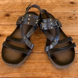 Franco Sarto leather gladiator sandals - 9